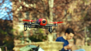 Drone and Joan 50171 - Parrot Bebop Drone shares airspace ...