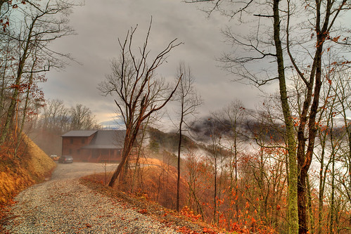 autumn cloud fog cabin unitedstates altitude northcarolina elevation hdr 3xp travelandplaces