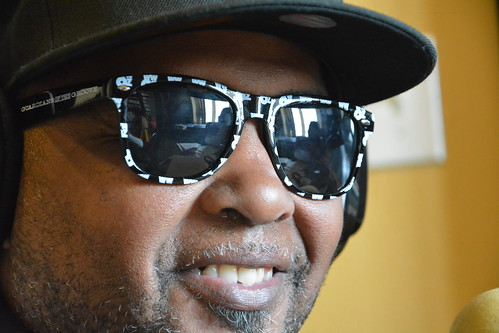 Action Jackson with the new WWOZ shades. Photo by Kichea S Burt.