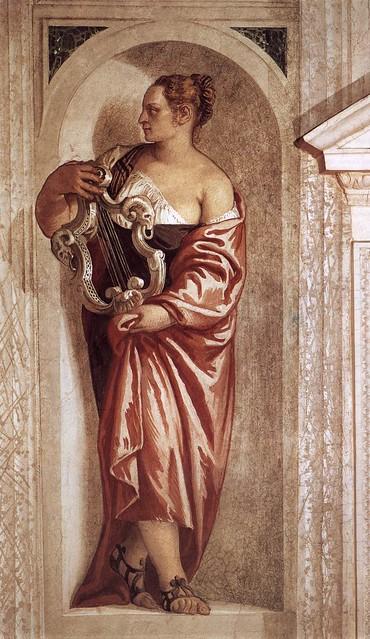Paolo Veronese, Villa Barbaro, Maser, Muse mit einer Lyra (Muse with a Lyre)