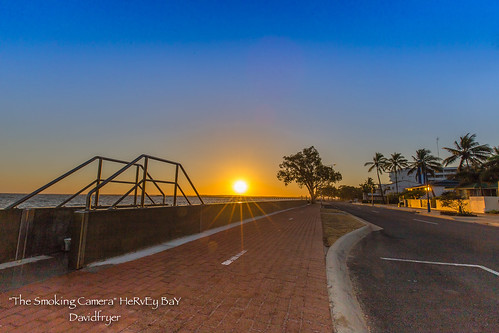 world travel autumn trees art fall sunrise canon golden pier flickr image award australia palm hour queensland herveybay 6d 1635mm urangan uranganpier davefryer