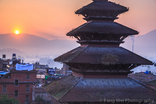travel nepal color tourism beautiful beauty horizontal sunrise dawn ancient asia tour outdoor landmark unesco nepalese tradition architeture bhaktapur bagmati newar bhadgaon