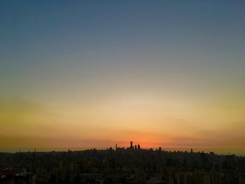 sunset lebanon downtown beirut