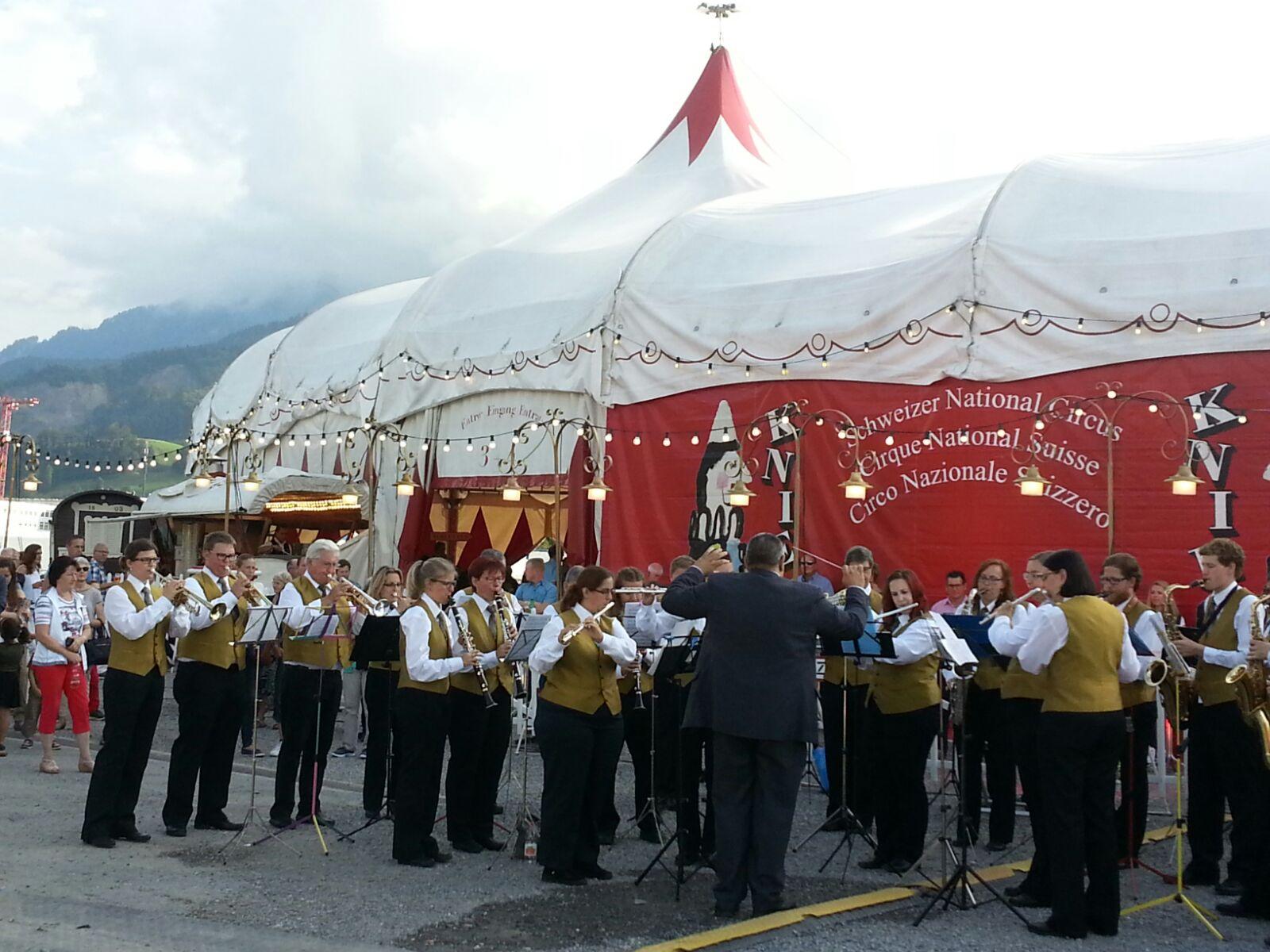 Zirkus Knie Premiere auf der Allmend in Luzern am 23.07.2016