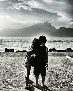 Looking At The lake   #kids #love #babygirl #mybabygirl #blackandwhite #bn #biancoenero #Photography #photooftheday #picoftheday #garda #igers #igersitalia #sky #clouds #lake #silhouette #looking #play #fun #beautiful #likesforfollow #instagramers #instag | by Mario De Carli