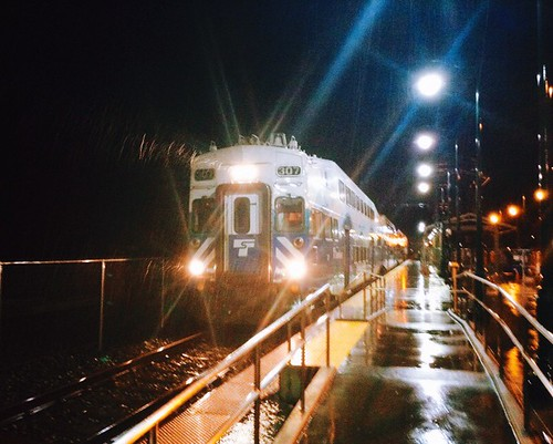 """Sounder North in the Rain in """"Kodachrome"""" - Horizontal Perspective"""
