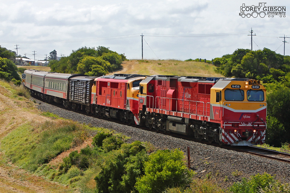 Vline service to Warrnambool with N456 & A66 by Corey Gibson