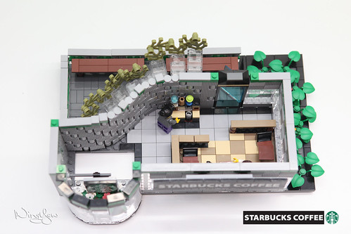 Lego MOC Starbucks Cafe (22)   by WingYew