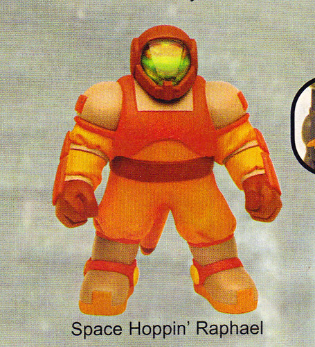 "LEE'S TOY REVIEW #xx, pg. 37 / ""TOY FAIR 2004"" , 'TMNT - 2k3 Peek' - ""SPACE HOPPIN' RAPHAEL"" early prototype  (( March 2004 )) by tOkKa"