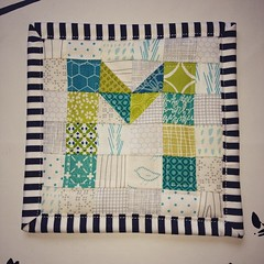 A small and quick scrap project #miniquilt