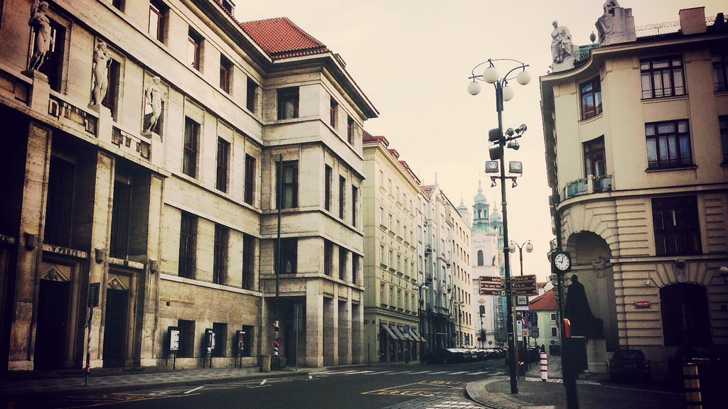 Empty Street on Saturday Morning