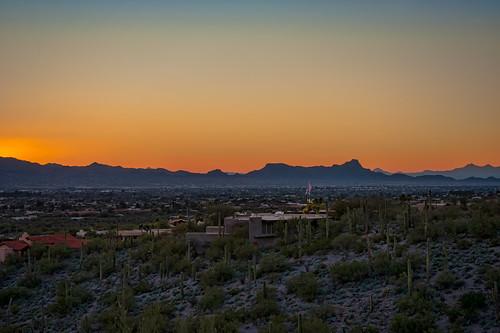 sunset arizona unitedstates tucson campbell trailhead campbelltrailhead