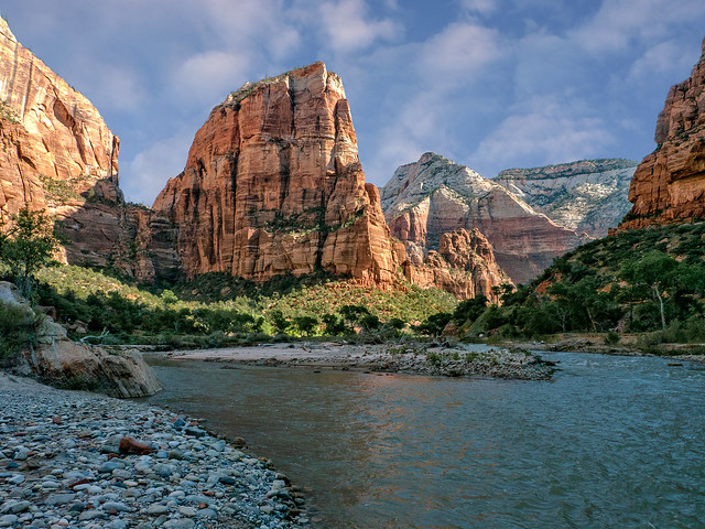 Angel's Landing and the Virgin River, Zion National Park, Utah