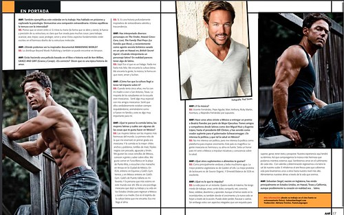 p2 AHF Mexico Magazine (issue Feb 2015) interview with Sebastian Siegel on film, fitness and Latin Culture   by DriveEntertainment