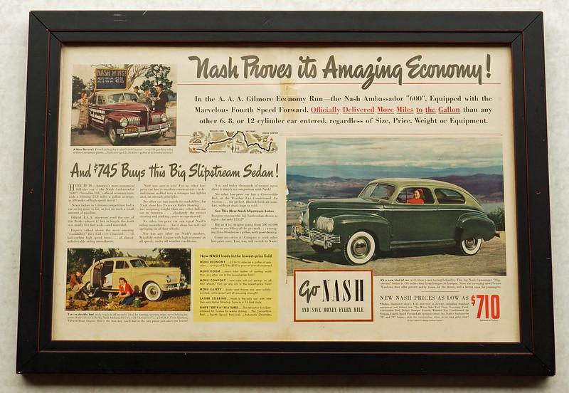 CM001 Nash Car Ad Framed DSC04121