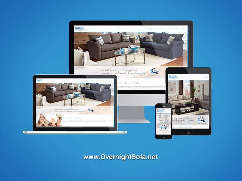 Overnight Sofa Responsive Website Design
