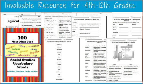 Social Studies Unit: 100 Most Used Vocabulary Words | by CHSH-Teach
