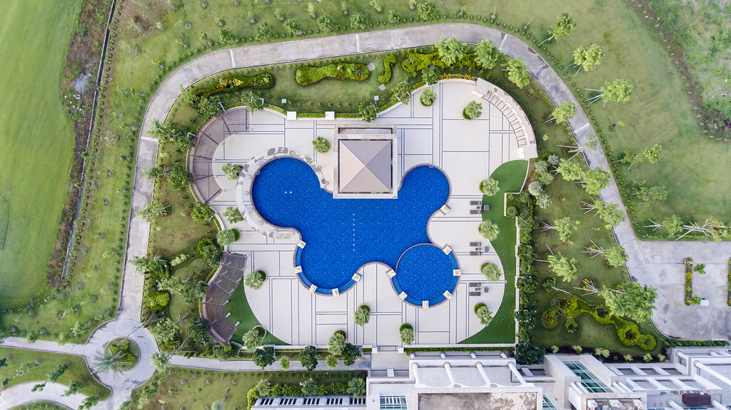 Swimming Pool Drone View Be Dazzled As You Enter The Spa Flickr