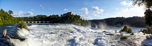 wasserfall waterfalls rheinfall rhinefalls schlosslaufen laufencastle schweiz switzerland tosendes wasser thunderous water panorama panoramic view