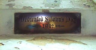 Dedicated S. John's Day 1912