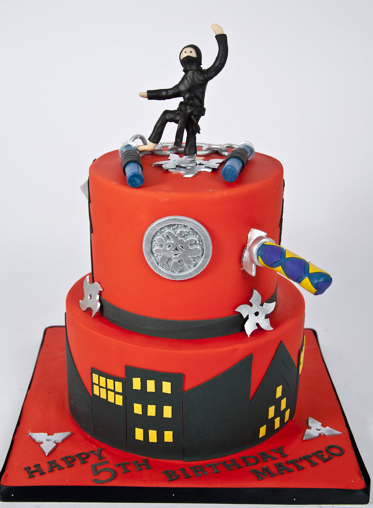 Astonishing Bc4631 Ninja Birthday Cake Toronto For The Love Of Cake Custom Birthday Cards Printable Inklcafe Filternl