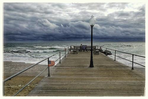 monmouth newjersey unitedstates pier pavlosbernhard oceangrove nj usa outdoor landscape seascape seaside shore beach beachpier ocean atlanticocean stormy windy windyday oct2016