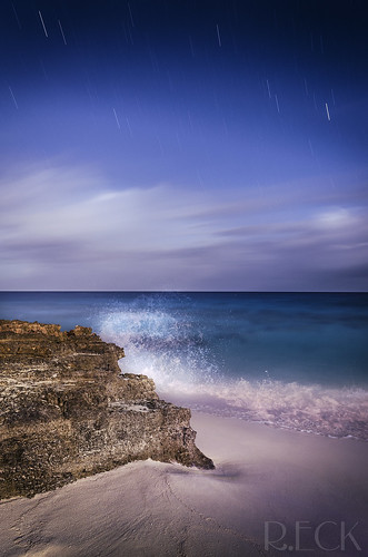 project odyssey travel long exposure turks caicos night star stars startrail ocean water nature landscape international russell eck amanyara beach outdoor strobist coast shore sea rock serene seaside