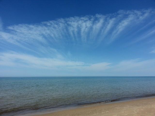 Simple Blue Lake Michigan