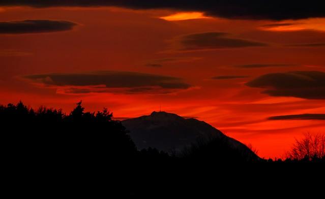 Sonnenuntergang des Tages