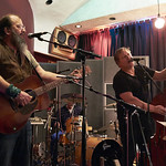 Thu, 26/02/2015 - 2:27pm - Steve Earle and The Dukes (Kelly Looney on bass, Will Rigby on drums, Chris Masterson on guitar, Eleanor Whitmore on fiddle and vocals) perform for FUV with an audience of Marquee Members. Hosted by Russ Borris. Photo by Gus Philippas