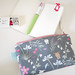 Zipper Pouch - My Lovely Bunnies / Grey