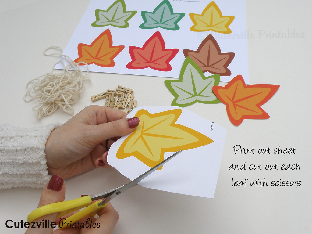Pdf Printable Autumn Fall Leaves Garland You Can Print A