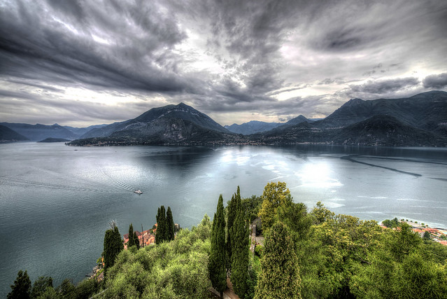 View of the Lake Como from Castello di Vezio - Italia