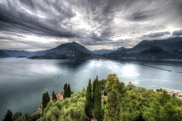 View of the Lake Como from Castello di Vezio - Italia