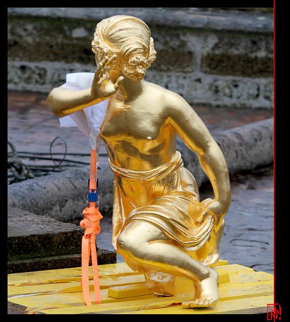 Versailles ; Une paysanne bien dorée