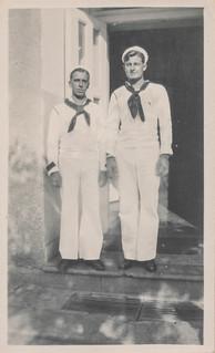 Two sailors posing in a doorway | by simpleinsomnia
