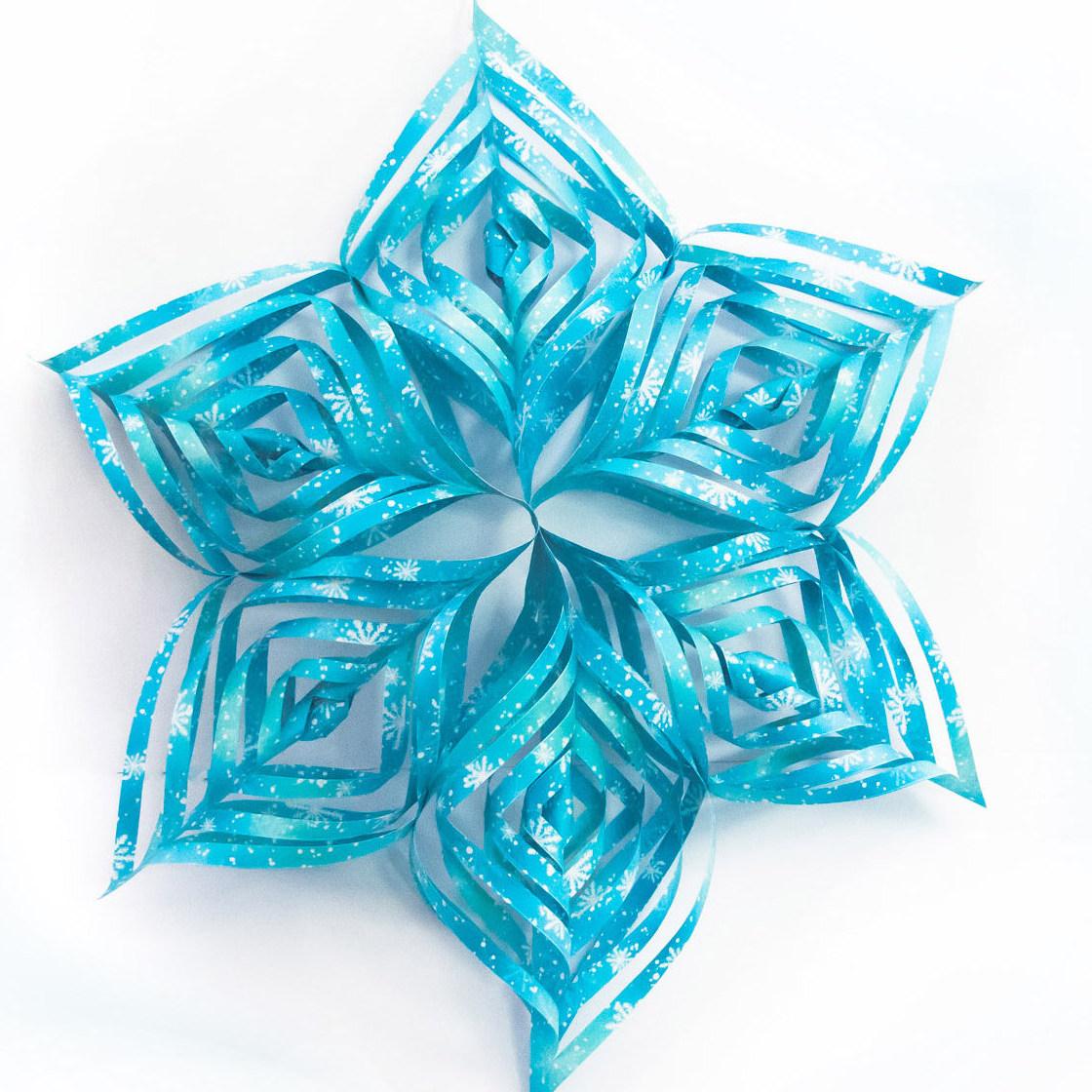 วิธีทำดาวกระดาษรุปเกล็ดหิมะ สำหรับแต่งบ้าน ช่วงเทศกาลต่างๆ (Paper Snowflake DIY) 021