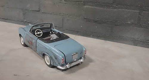 Peugeot 403 convertible weathered (7) | by www.MODELCARWORKSHOP.nl