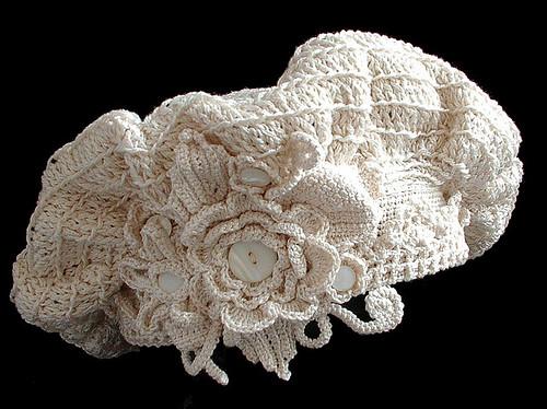irish crochet tam kit in store