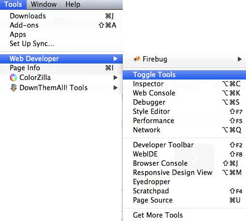 Firefox Developer Tools Menu   amayem   Flickr