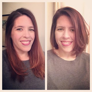 So. I kinda went and chopped many, many inches off my hair today. | by poobou
