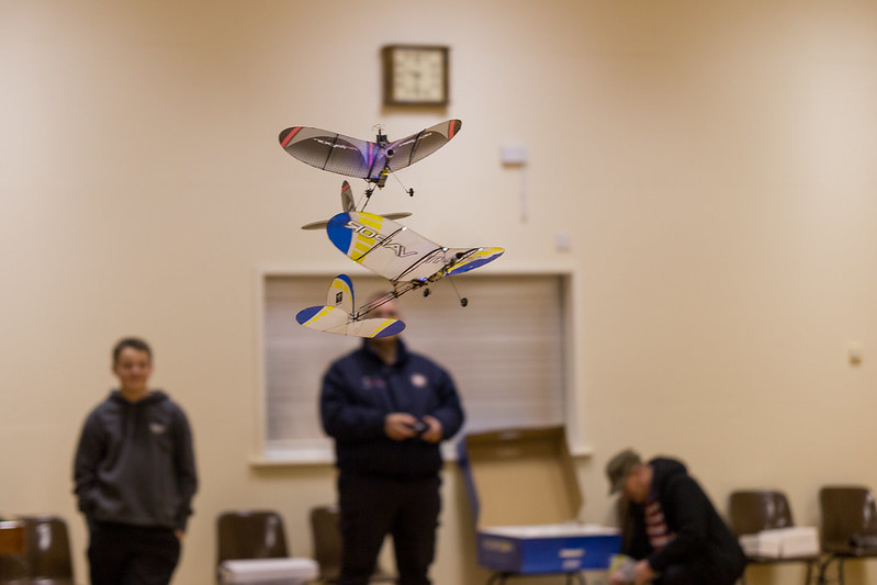 Formation Flying. Phil flying his FPV Vapor and Nathan with his Night Vapor.