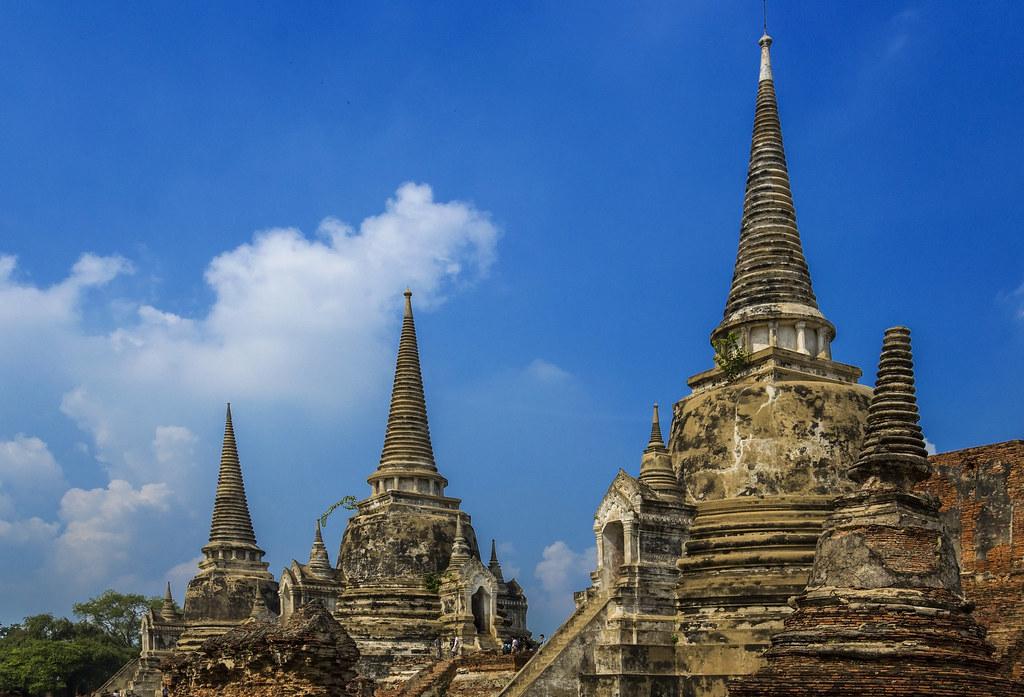 Wat Phra Si Sanphet   Las tres estupas del recinto de Wat Ph…   Flickr