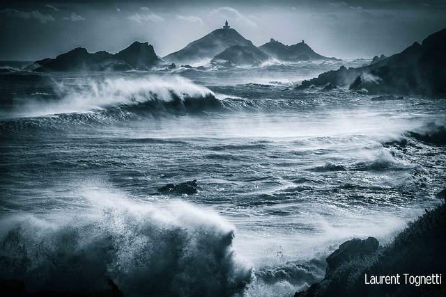 tempête épouvantable sur les îles Sanguinaires (Corse)