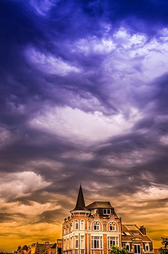 sunset brussels clouds belgium belgique bruxelles woluwestlambert wsl nikond7000 sigma1750mmf28exdcoshsm parvissthenri