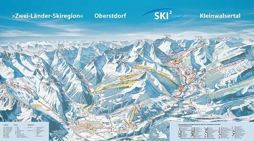 Kleinwalsertal - mapa sjezdovek