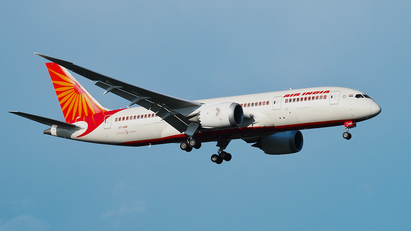VT-ANR Air India Boeing 787-8 Dreamliner
