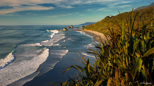 ninemile westcoast newzealand kiltro beach sea ocean sunset outdoor geology