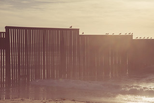 Border Fence Beach Sunset | by Tony Webster