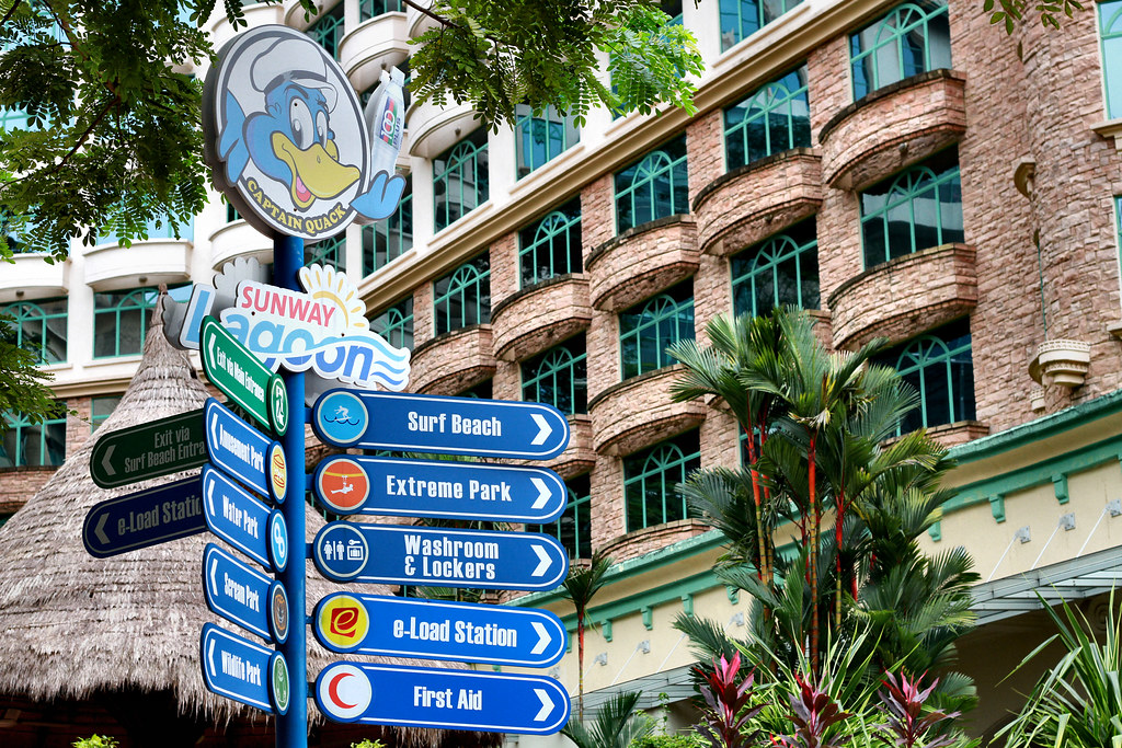 Sunway Lagoon Theme Park guide boards
